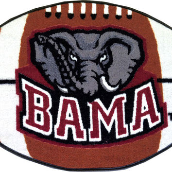 NCAA Alabama Crimson Tide Football Shaped Rug