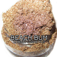 NEW Beach Bum Sandy Taupe Gold Shimmer Mineral Eyeshadow Mica Pigment 10 Grams Lumikki Cosmetics