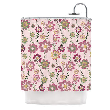 "Nika Martinez ""Romantic Flowers in Pink"" Blush Floral Shower Curtain"