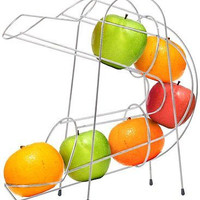 Chef Buddy Curved Fruit Chute Storage Bowl Stand Organizer Decor New Free Ship