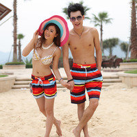 EA14 New Mens Womens Couple Lover Summer Beach Surf Board Swim Shorts Surfing & Beach Shorts