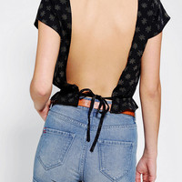 Urban Outfitters - Urban Renewal Blossom Tie Back Top
