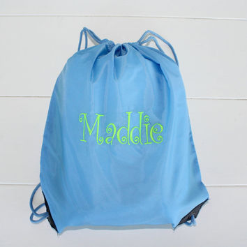 Personalized Cinch Sack Back Pack Back To School Book Bag