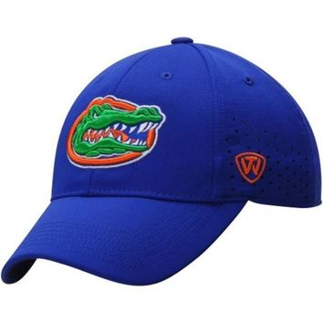 DCCKG8Q NCAA Florida Gators Men's Top of the World Royal Jock II 1Fit Flex Hat