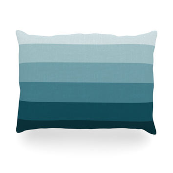 "Trebam ""Cijan"" Navy Teal Oblong Pillow"