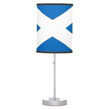 Patriotic table lamp with Flag of Scotland