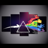 Eevee Prism Limited Edition 5-Piece Wall Art Canvas