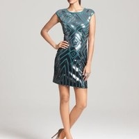 BCBGMAXAZRIA Geometric Sequin Dress - Dresses - Apparel - Women's -  Bloomingdale's