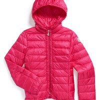 Girl's Moncler 'Mayotte' Hooded Down Coat
