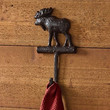 Lodge and Cabin Cast Metal Wall Hook (Moose)