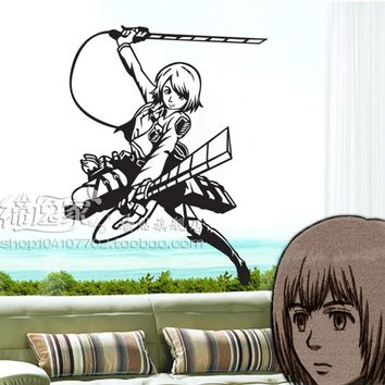 Cool Attack on Titan DCTAL  Cartoon Wall Stickers Wall Decors Decal Wall Paper Home Decor AT_90_11