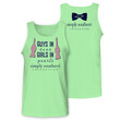 Simply Southern Collection Guys In Ties Girls In Pearls Girlie Bright Unisex Tank Top