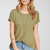 Drapey Textured Knit Blouse