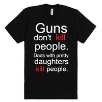 Dads with pretty daughters-Unisex Black T-Shirt