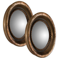 Uttermost Tropea Rounds Wood Mirror S/2 - 12847