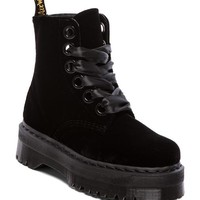 Dr. Martens Molly 6-Eye Boot in Black