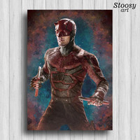 daredevil poster marvel decor superhero poster marvel print daredevil netflix