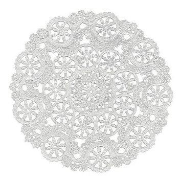 "Royal Lace® 23006 Medallion Lace Pattern Round Paper Doilies, 12"", 8-Pack"