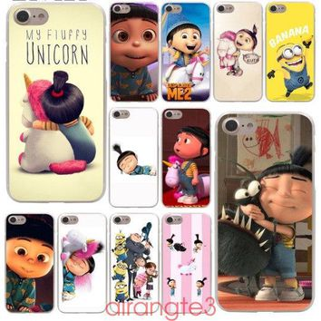 Agnes Fluffy Unicorn Hard Phone Cover Case for iphone 5 6 7 8 x