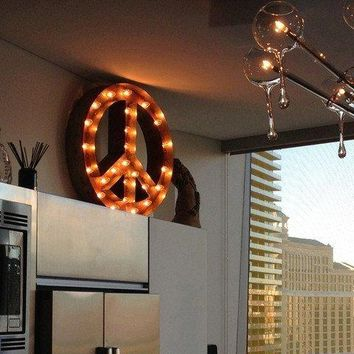 Peace Sign Mirror From Pottery Barn For The Home