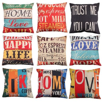 Quote Cushion Cover Cover