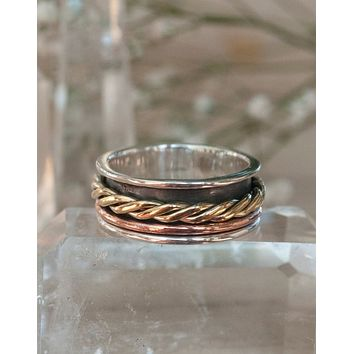 Vicky Meditation Spinner Ring (BJS035)