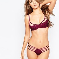 ASOS   ASOS Lexi Extreme Caged Half Cup Molded Underwire Bra at ASOS