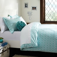 Florette Duvet Cover + Sham, Pool