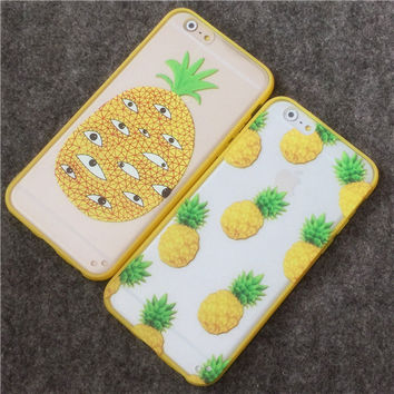 """New Arrival Hot Summer Cool Pineapple TPU Frame + PC Phone Back Cover Phone Cases For Iphone 6 4.7"""" Phone Case Accessories YC597"""