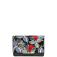 Fendi - Orchid-Print Chain Wallet - Saks Fifth Avenue Mobile