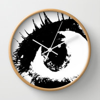 Watching You Wall Clock by Kelli Schneider