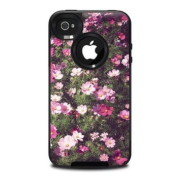 The Vintage Pink Floral Field Skin for the iPhone 4-4s OtterBox Commuter Case