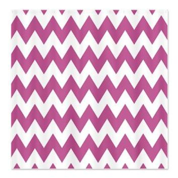 Purple and White Chevron Zig Zag Shower Curtain> 77518770> CircusValley Pink