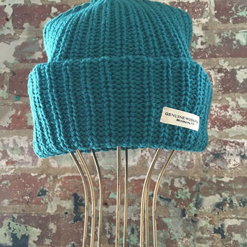 Genuine Workwear Knit Hat, Dark Emerald