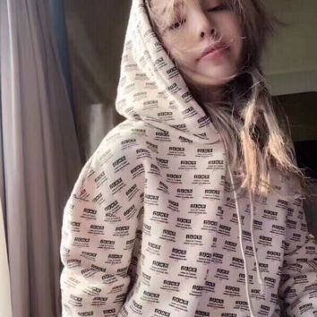 Gucci:Print Hooded Pullover Tops Sweater Sweatshirts