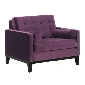 Centennial Chair in Purple Velvet
