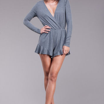 Wrap Me Up Ribbed Romper