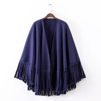 Plain Fringed Cape