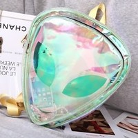 Designer Transparent Backpack Women Clear Bag PVC Bag With Aliens Smile Face
