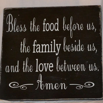 Bless The Food Before Us  Beautiful Blessing by CarovaBeachCrafts