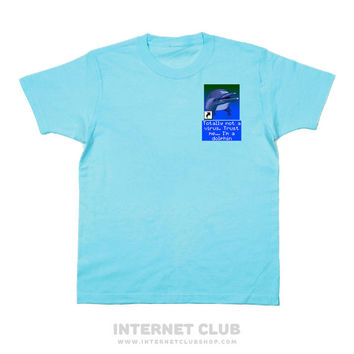 Totally Not a Virus Dolphin Pocket Shirt