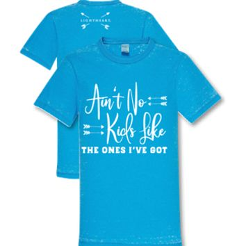 Southern Couture Lightheart Ain't No Kids Like the Ones I've Got Triblend Front Print T-Shirt