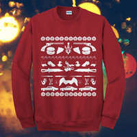 Supernatural Art Christmas Design Sweater, image, fashion, movie, gift, ON ETSY