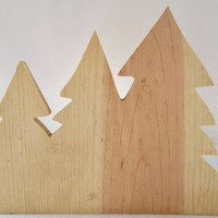Wood Craft Project, Wood Tree Trio, Forrest Trees, Craft Wood, CIJ, Christmas in July, Christmasinjuly