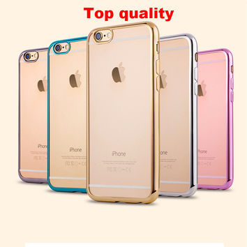 Luxury Glitter Silicone Case For iPhone 7 / 7 Plus Transparent Tpu Cover Coque Fundas for iPhone 7 plus cases shell 5 5s SE 6 6s