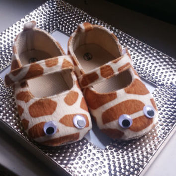 Brown Baby Shoes, Flat Baby Shoes,Christening baby shoes, baby girl crib shoes, giraffe baby shoes, Wedding, Ready to ship