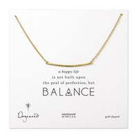 large square bar necklace, gold dipped