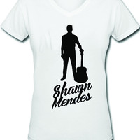 Shawn Mendes V-Neck Tee | MAGCONTOUR