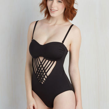 When and Flair? One-Piece Swimsuit   Mod Retro Vintage Bathing Suits   ModCloth.com