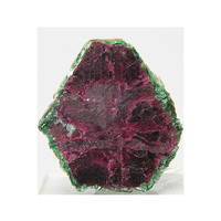 Ruby in Clinochlore Deep red crystal in Sparkly Green Mica Genuine Gemstone Crystal Mineral Corundum